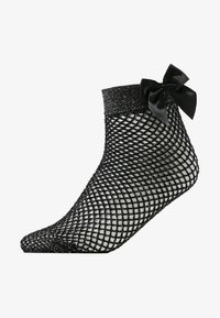 Pretty Polly - FISHNET ANKLET WITH BOW - Socken - black - 1
