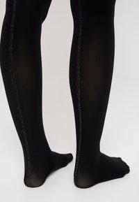 Pretty Polly - STRIPE BACKSEAM OPAQUE TIGHT - Collant - black/silver - 3