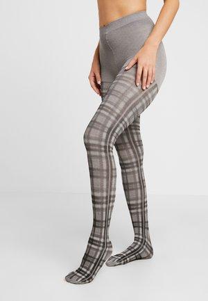 PRINTED TARTAN TIGHT - Tights - grey