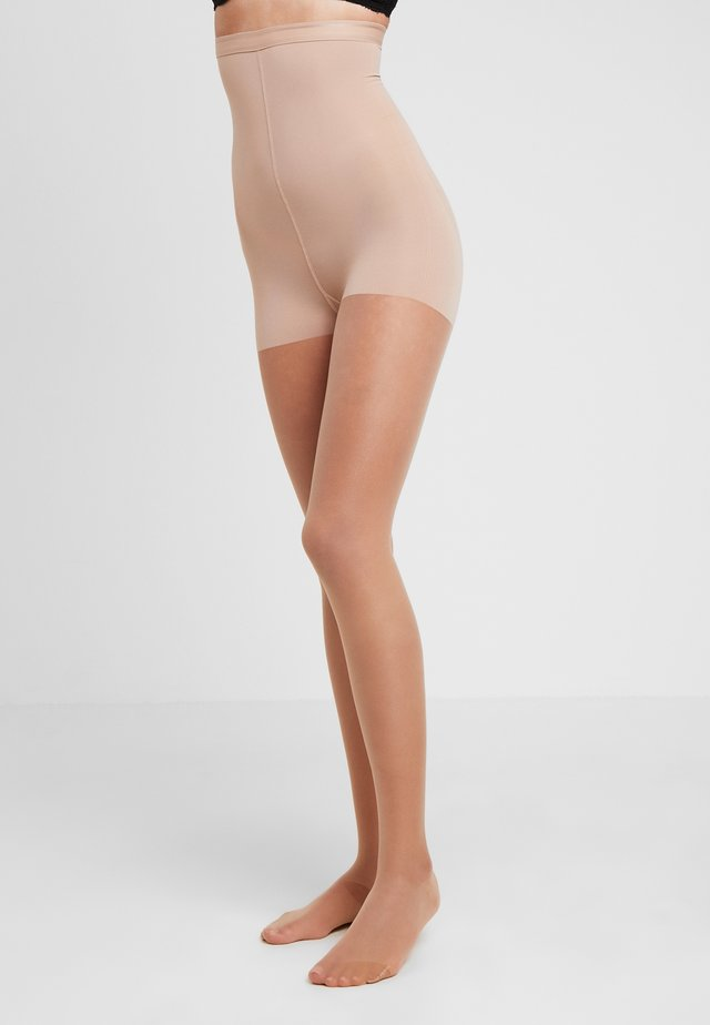15 DEN WOMAN SHAPE TIGHTS INVISIBLE - Rajstopy - powder