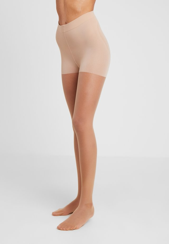 15 DEN WOMAN TIGHTS CONTOURING - Rajstopy - powder