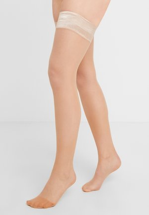 15 DEN WOMAN STAY-UPS INVISIBLE POWDER - Over-the-knee socks - powder