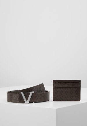 CRUP BELT AND WALLET HOLDER SET - Pásek - moro/nero