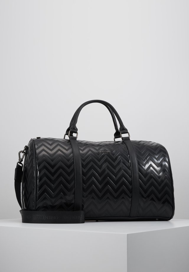 NUTRIA EMBOSSED WEEKENDER - Weekend bag - nero