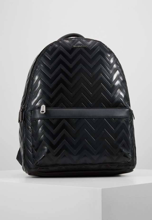 NUTRIA EMBOSSED BACKPACK - Rucksack - nero