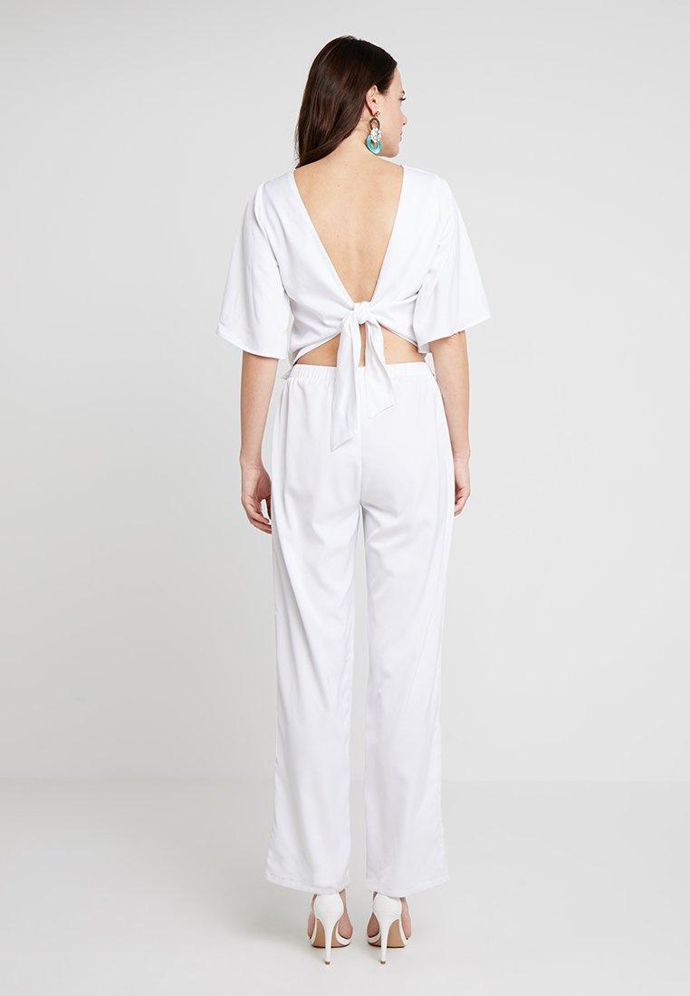 Love Copenhagen - JASMINE EVENING LONG 2-IN-1 - Trousers - optical white