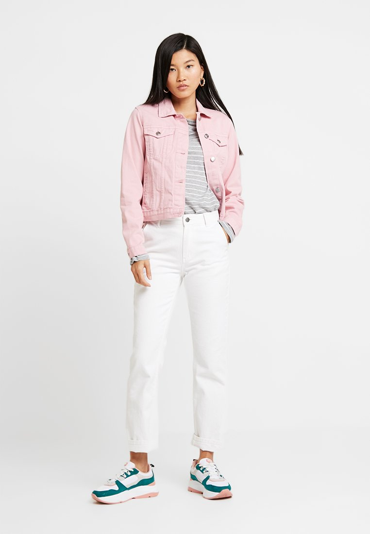 Dorothy Perkins - JACKET - Denim jacket - pink