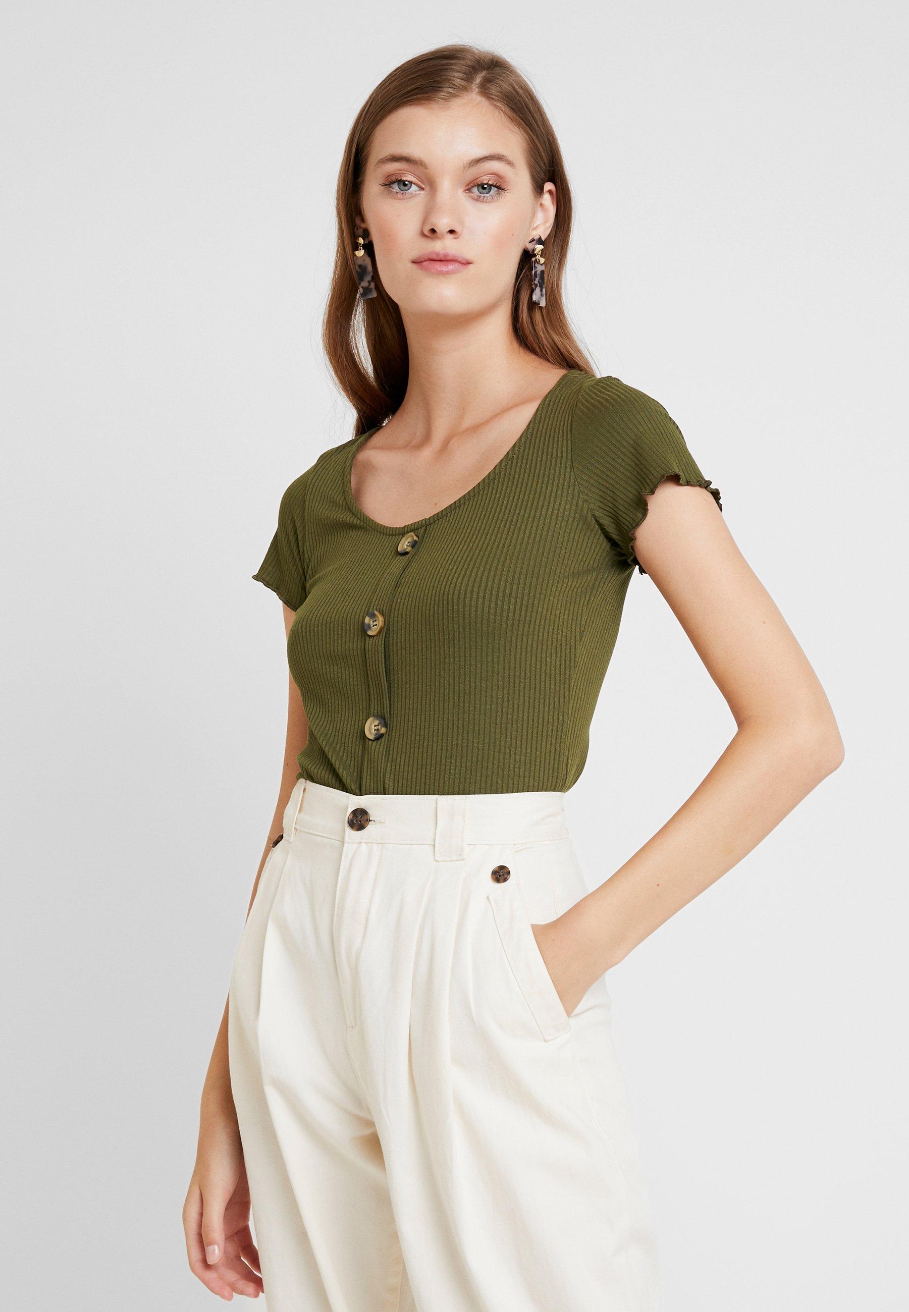 shirt Button Khaki Perkins ThroughT Dorothy Imprimé 6gY7bfy