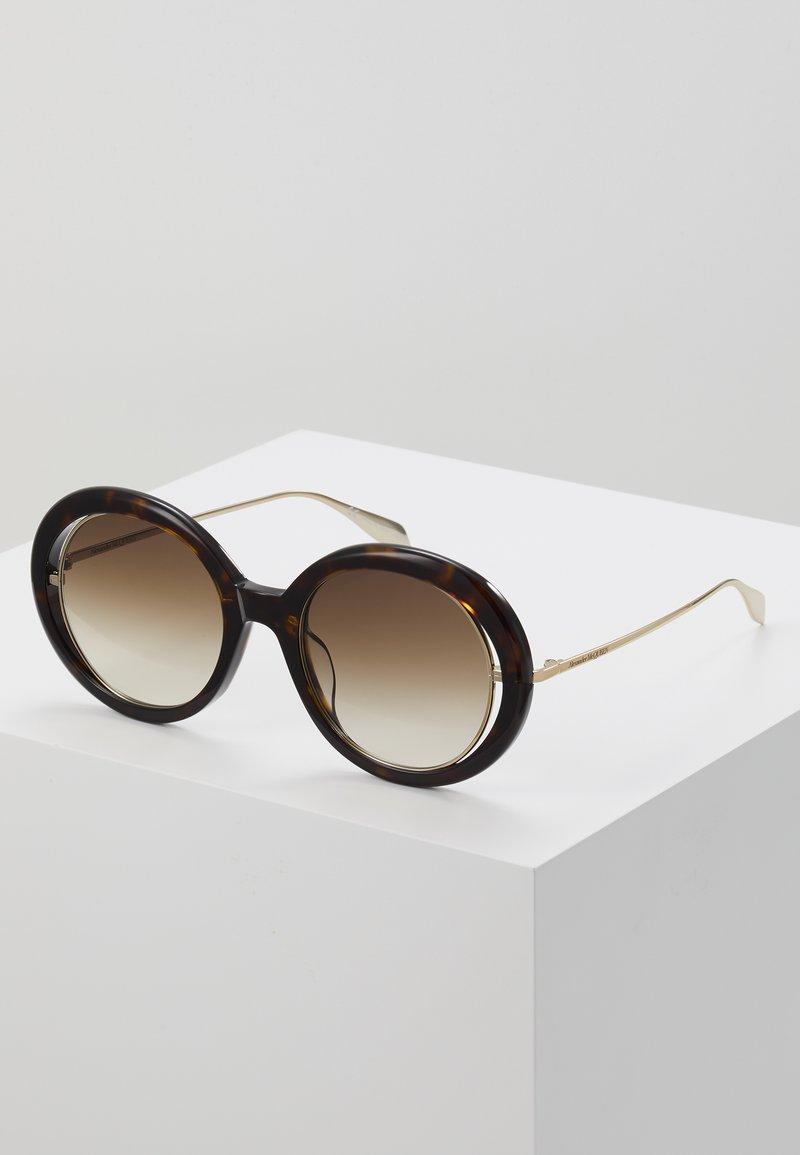 Alexander McQueen - Aurinkolasit - havana/gold
