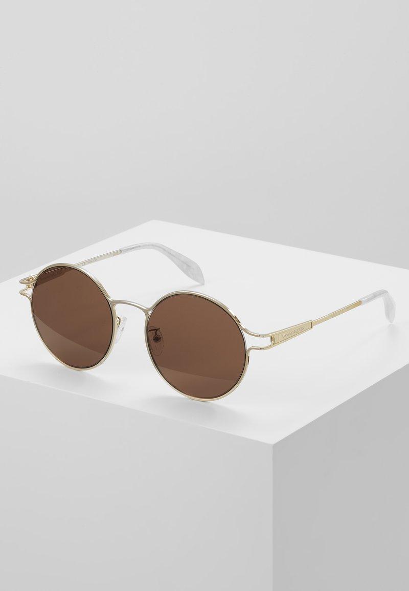 Alexander McQueen - Sonnenbrille - gold-coloured/brown