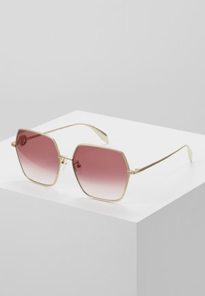 Sonnenbrille - gold/red