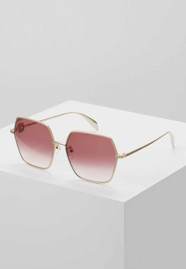 Sunglasses - gold/red