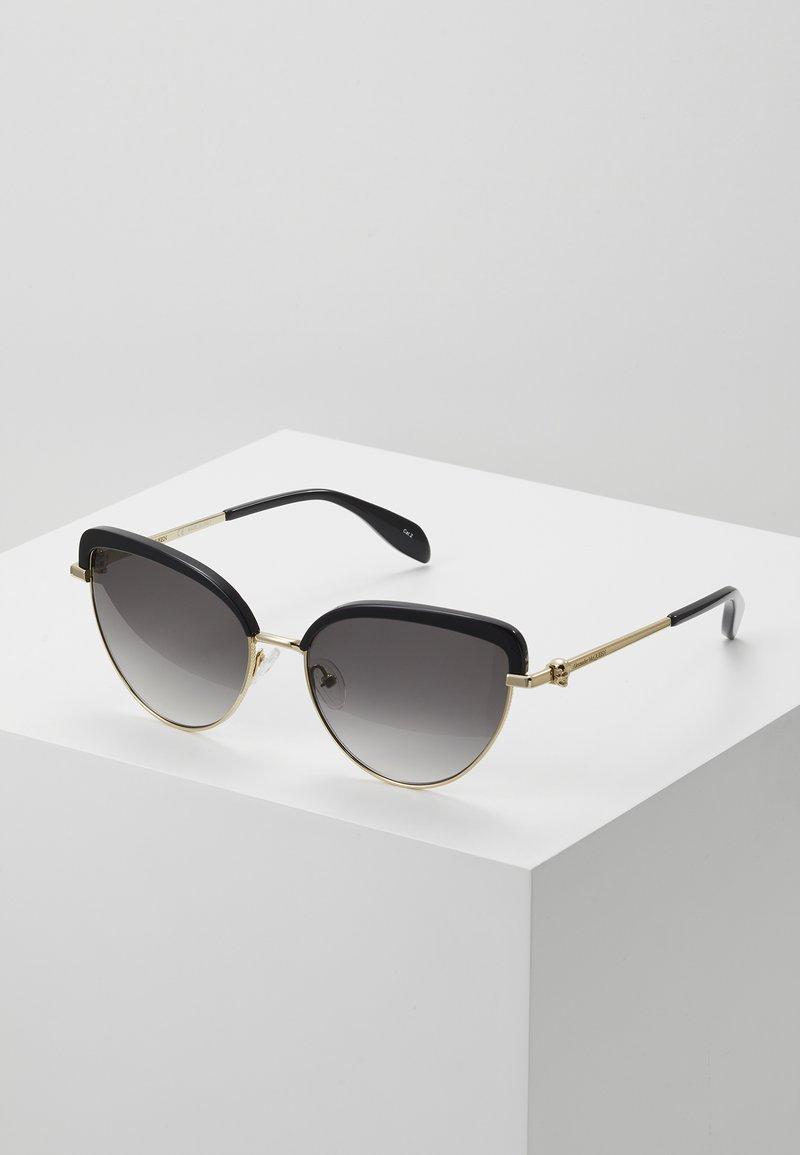 Alexander McQueen - Sluneční brýle - black/gold-coloured/grey