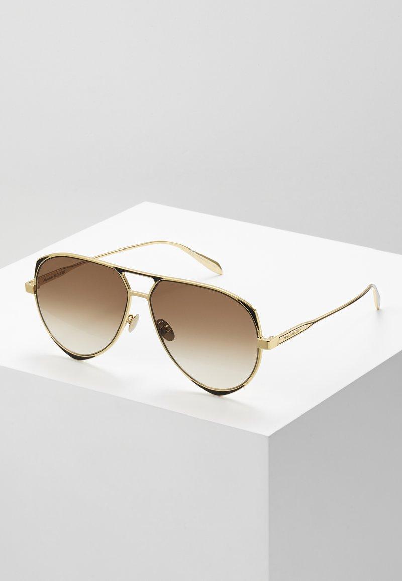 Alexander McQueen - Sluneční brýle - gold-coloured/brown