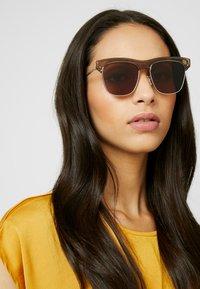 Alexander McQueen - Sonnenbrille - beige/silver/brown - 2