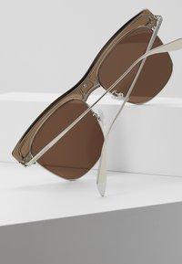 Alexander McQueen - Sonnenbrille - beige/silver/brown - 4