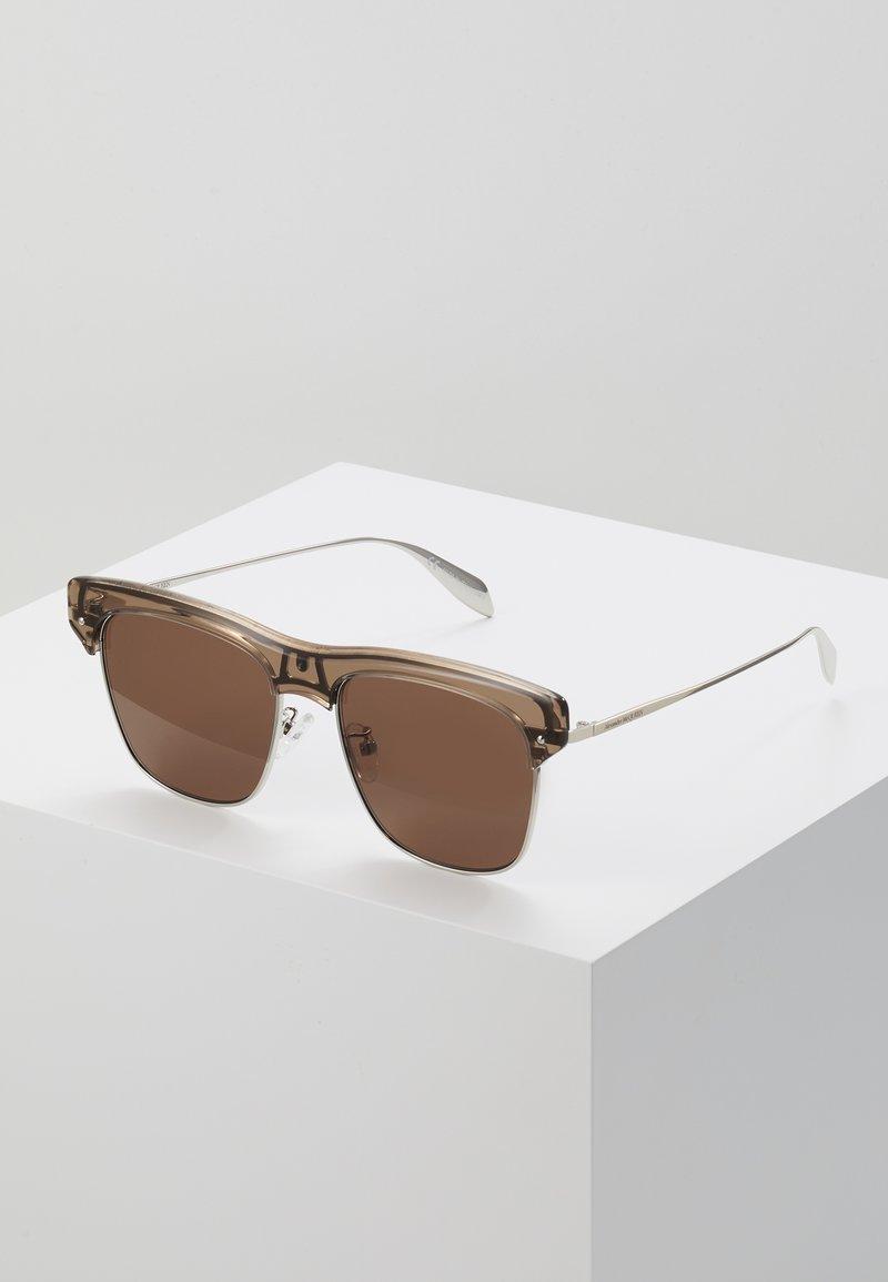 Alexander McQueen - Sonnenbrille - beige/silver/brown