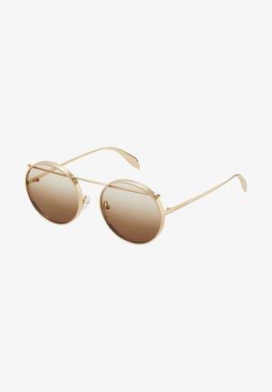 SUNGLASS UNISEX - Occhiali da sole - gold-coloured/brown