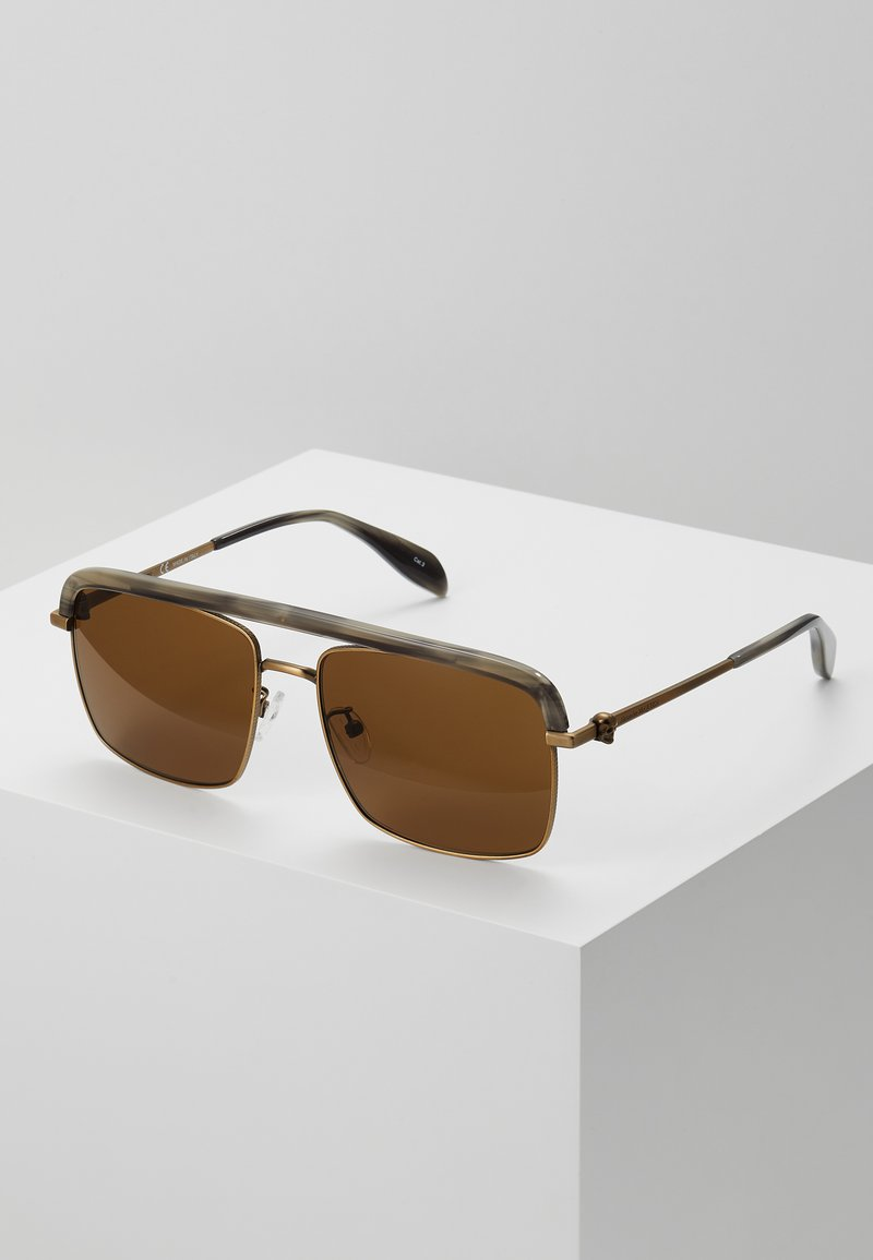 Alexander McQueen - SUNGLASS MAN - Sluneční brýle - bronze-coloured/brown