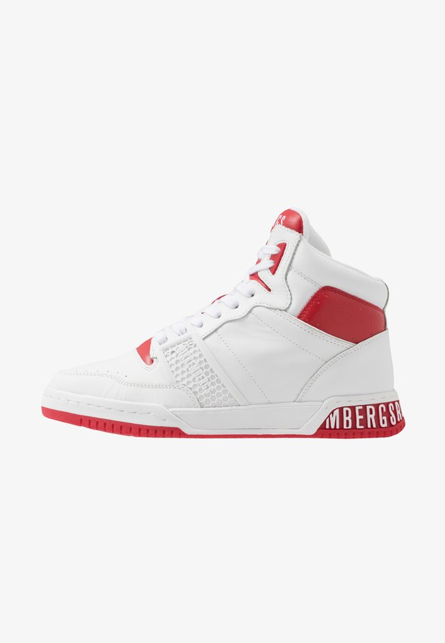 SIGGER - Sneakersy wysokie - white/red