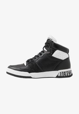 SIGGER - Sneakersy wysokie - black/white