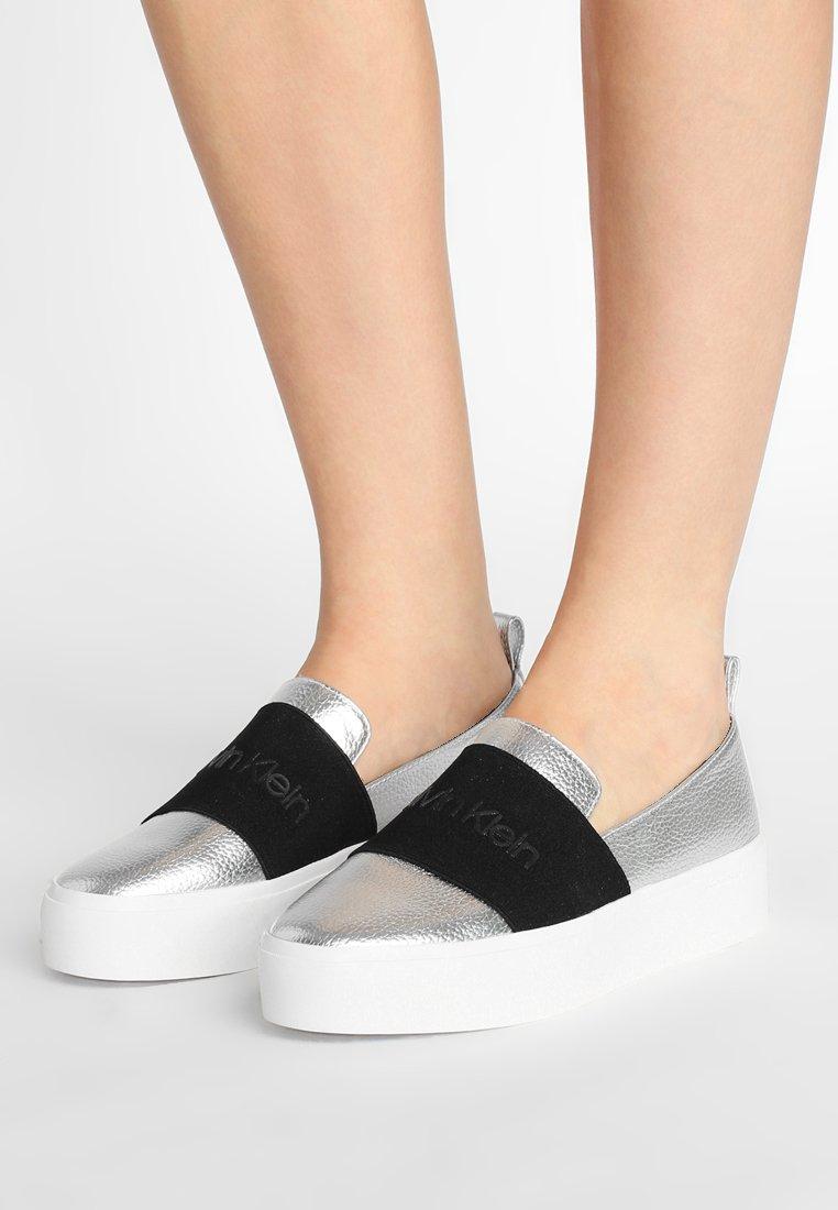 Calvin Klein - JACINTA - Slip-ons - silver