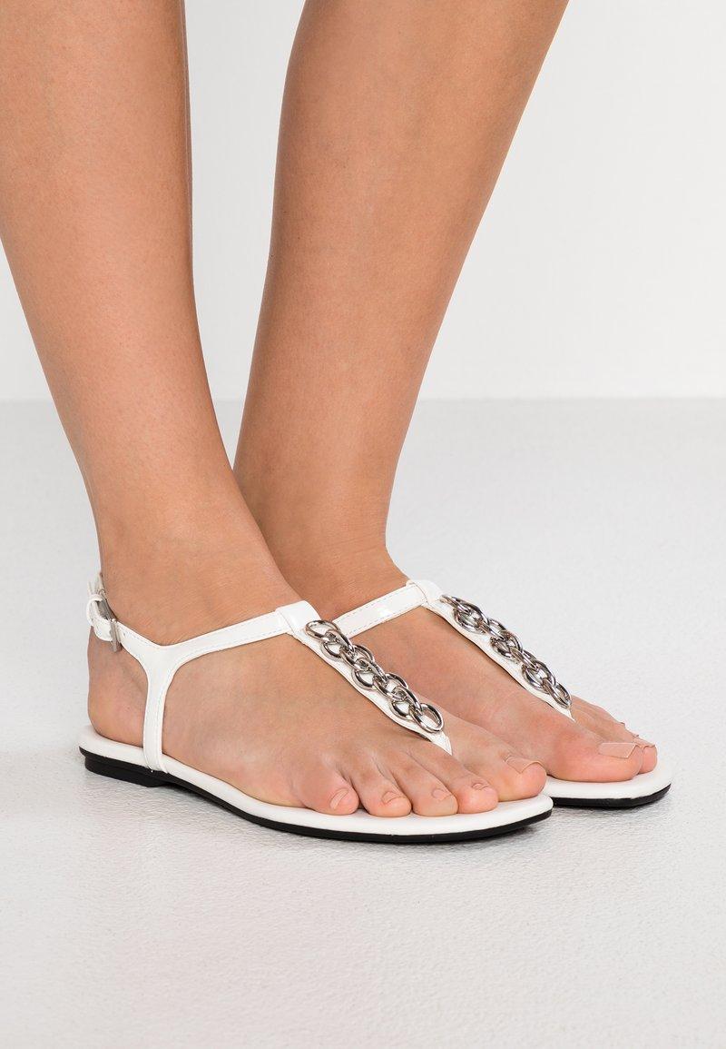 Calvin Klein - SILVA - T-bar sandals - white