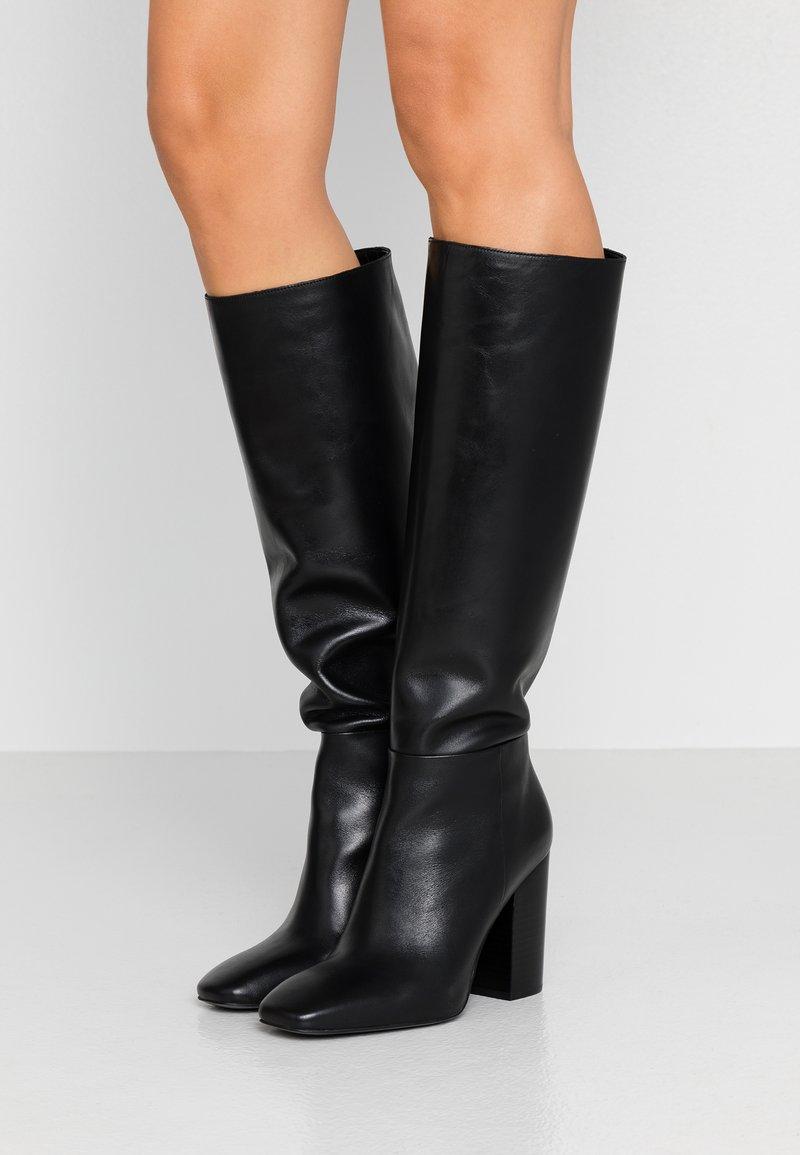 Calvin Klein - LUNA - Korolliset saappaat - black