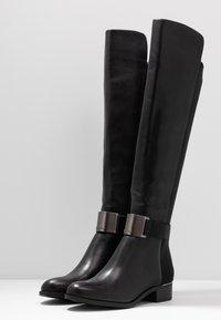 Calvin Klein - GENNIE - Over-the-knee boots - black/gunmetal - 4