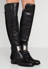 Calvin Klein - GENNIE - Over-the-knee boots - black/gunmetal - 0