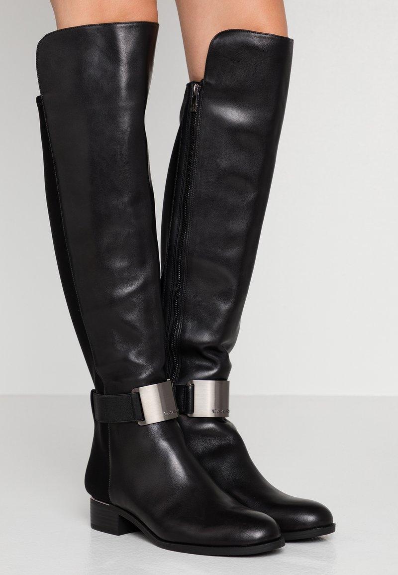 Calvin Klein - GENNIE - Over-the-knee boots - black/gunmetal
