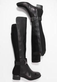 Calvin Klein - GENNIE - Over-the-knee boots - black/gunmetal - 3