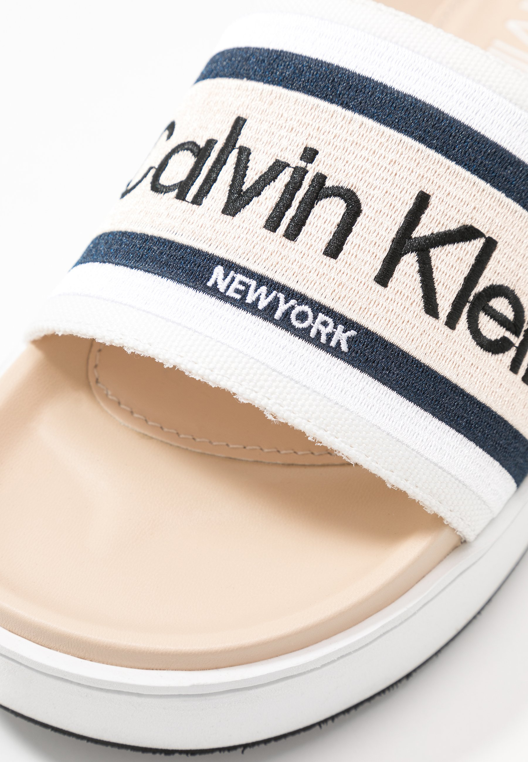 Calvin Klein Jaimee - Ciabattine Light Sand/navy rWV7nwm