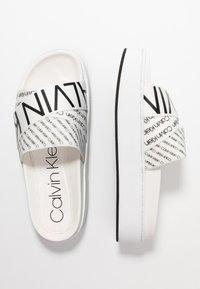 Calvin Klein - JEAMA - Pantofle - white/black - 3