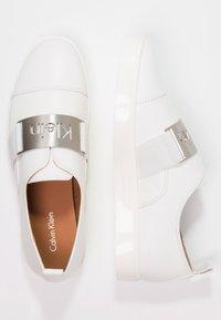 Calvin Klein - ILONA - Półbuty wsuwane - platinum white - 2