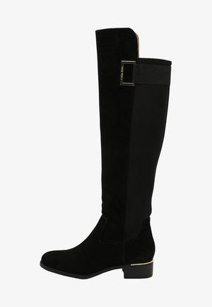 CYLAN - Overknee laarzen - black suede