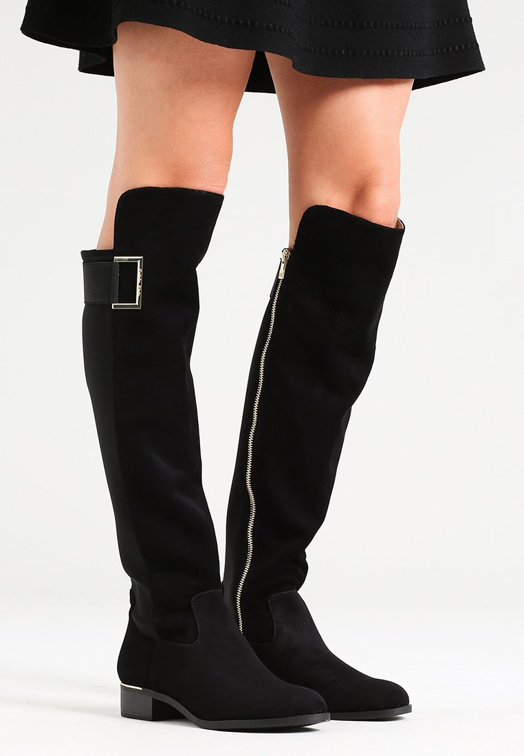 Calvin Klein - CYLAN - Over-the-knee boots - black suede
