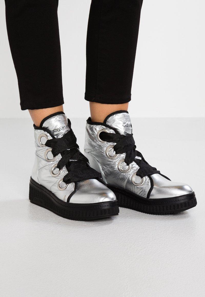 Calvin Klein - LIMON - Ankle boots - silver
