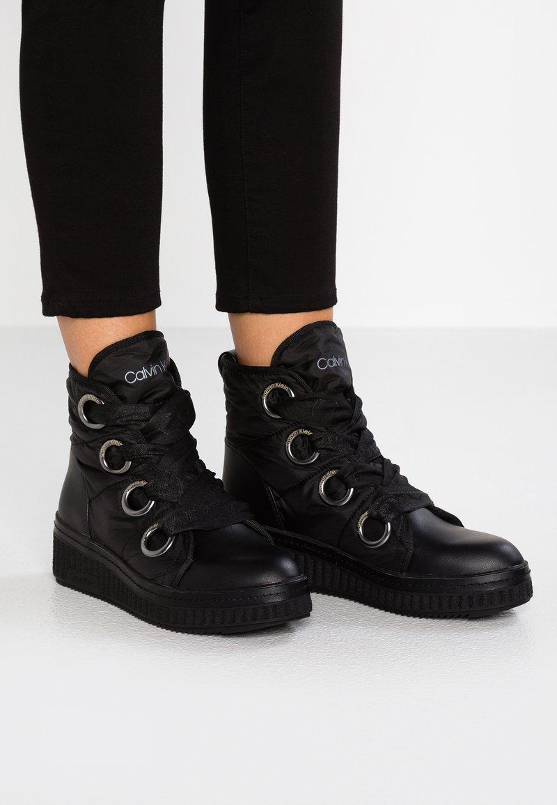 Calvin Klein - LIMON - Ankle boots - black
