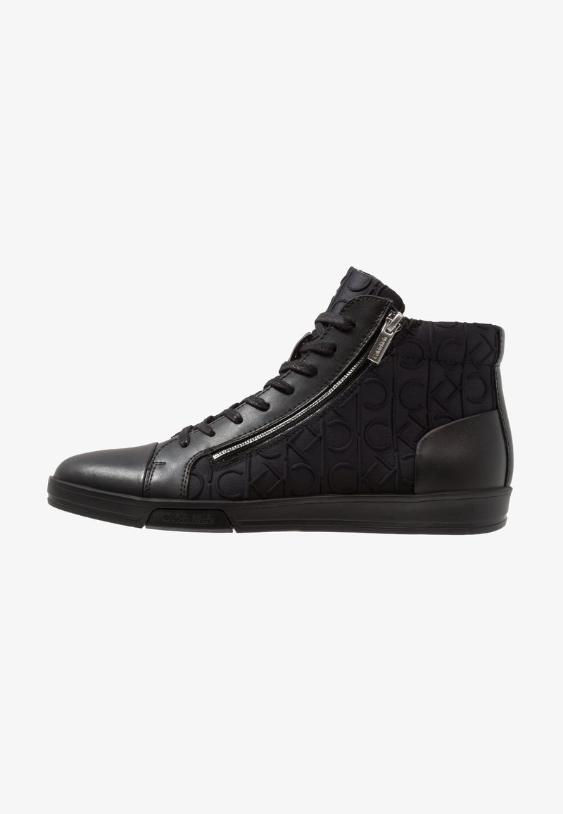 Calvin Klein - BERKE EMBOS - High-top trainers - black