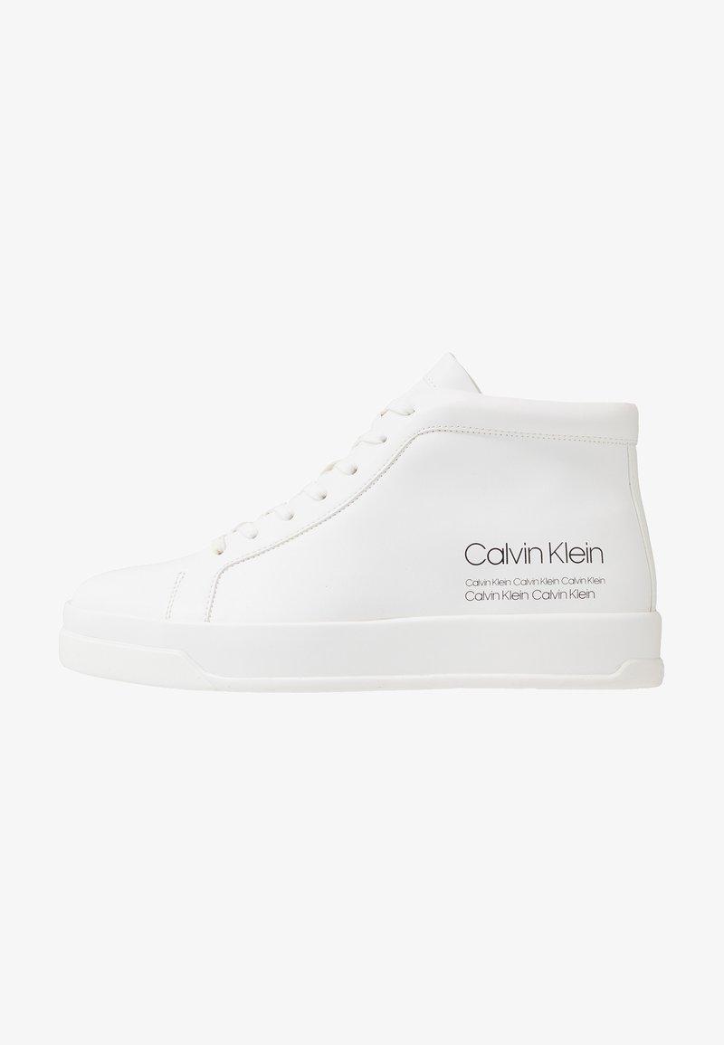 Calvin Klein - FERGUSTO - Korkeavartiset tennarit - white