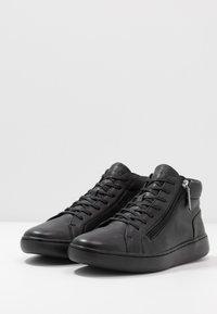Calvin Klein - FRANSISCO HIGH TOP LACE UP - Baskets montantes - black - 2
