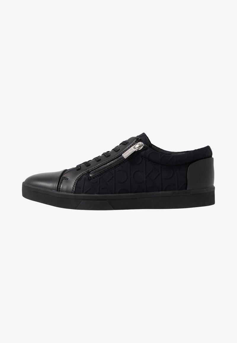 Calvin Klein - IBRAHIM BRUSHED - Baskets basses - black