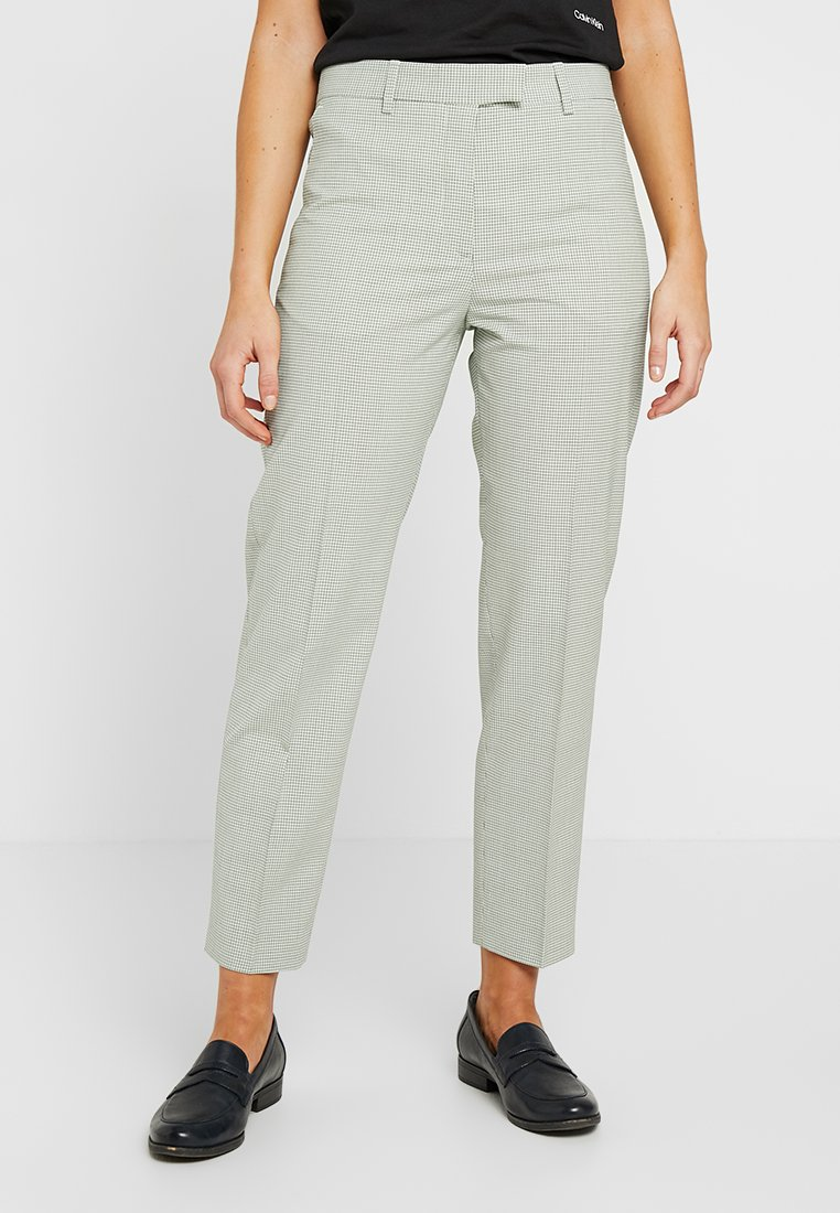 Calvin Klein - HOUNDSTOOTH - Trousers - mint