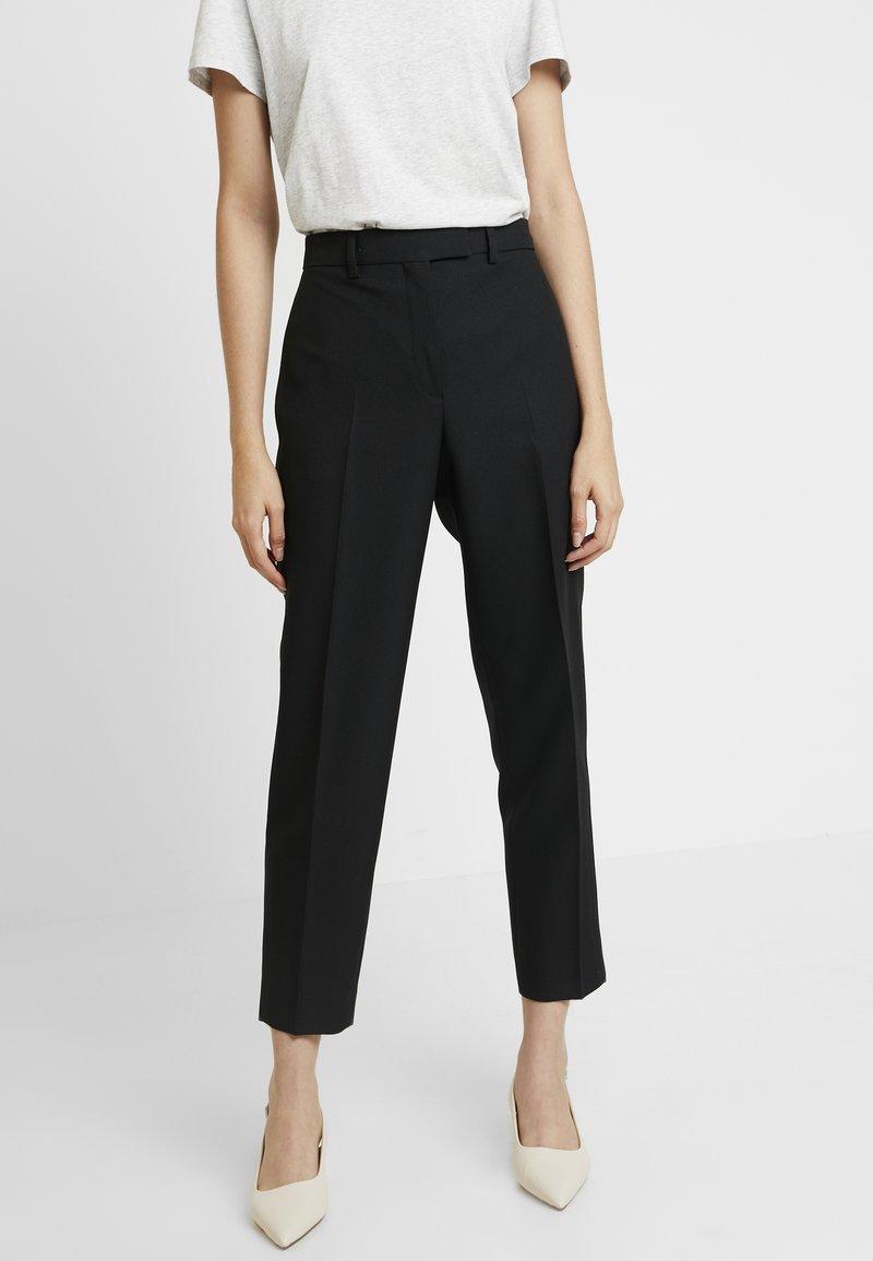 Calvin Klein - UNIFORM TWILL CIGARETTE PANT - Trousers - black