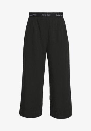 WASHED WIDE LEG CULOTTE - Pantalon classique - calvin black