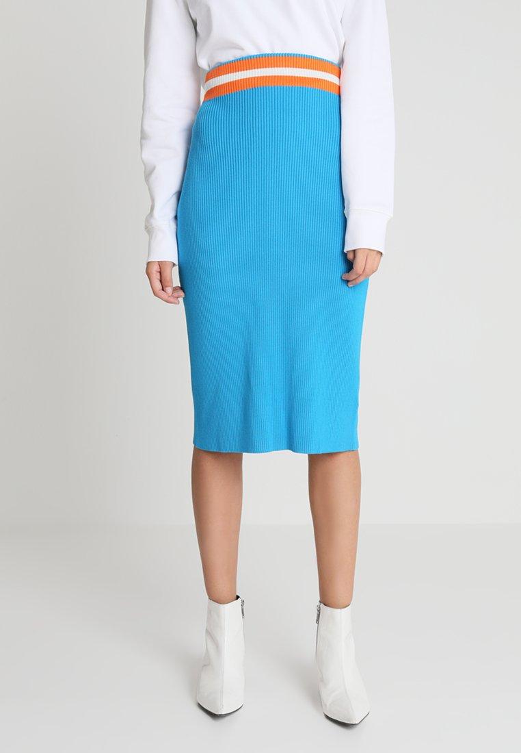 Calvin Klein - PENCIL SKIRT - Pouzdrová sukně - blue