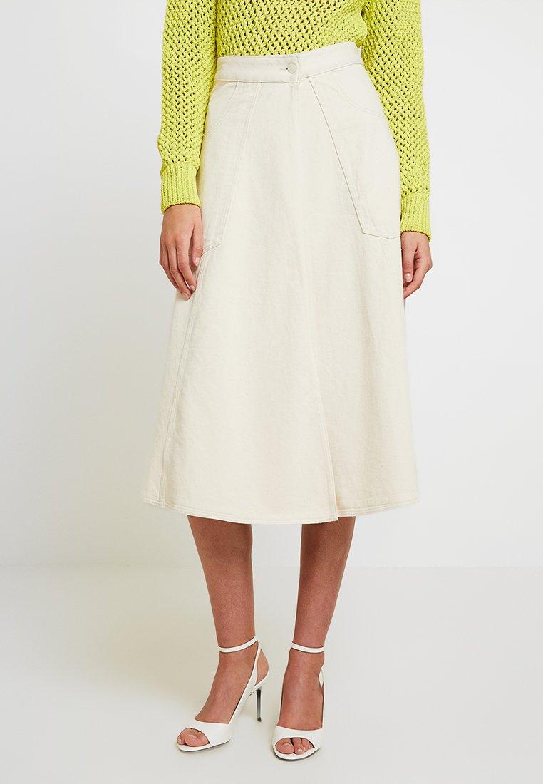 Calvin Klein - WRAP SKIRT - Falda acampanada - off white