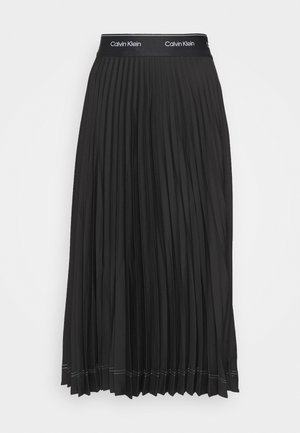 SUNRAY PLEAT SKIRT - A-linjainen hame - black