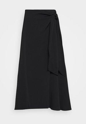 HEAVY SKIRT - Áčková sukně - black